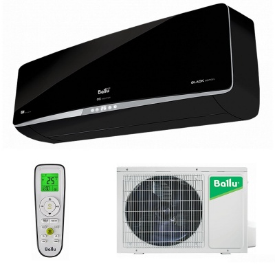 Настенная cплит-система Ballu серии Platinum DC Inverter Black Edition BSPI-10HN1/BL/EU